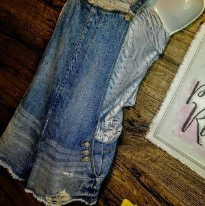 Zara Distressed Romper/Overalls Size M